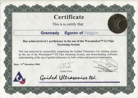 Сертификат GUL